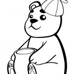 Baby Bear with Pot of Honey