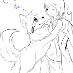 Anime Boy with Dog by ZaveKey