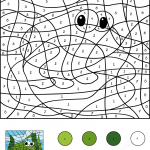 Frog Color by Number