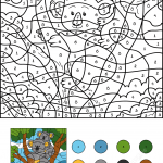 Koala Color by Number