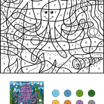 Funny Octopus Color by Number