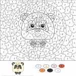 Cartoon Panda Color by Number