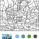 Zebra Color by Number