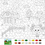 Rural Landscape Color by Number