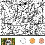 Panda Color by Number