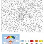 Boy Descends on a Parachute Color...