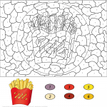 French Fries Color by Number