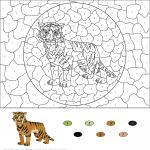 Saber Toothed Tiger Color by Number