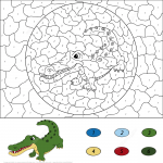 Crocodile Color by Number