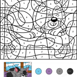 Sleepy Cat Color by Number