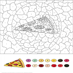 Pizza Color by Number