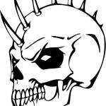 Diabelska czaszka ze szpikulcami