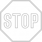 """Stop"" Sign in Denmark"