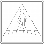 """Pedestrian Crossing"" Sign in Denmark"