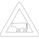 """Domestic Animals"" Sign in Denmark"