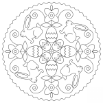 Easter Mandala with Bunny and Eggs
