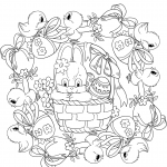 Easter Mandala with a Busket,...