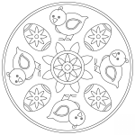 Easter Mandala with Chick and Egg