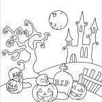 Halloween Scene in the Cemetery