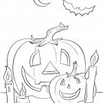 Halloween Scene with Pumpkins,...