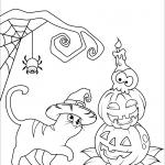 Halloween Cat and Jack O'Lantern