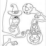 Halloween Owl and Jack O'Lanterns...