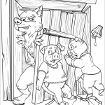 The Wolf Breaks the Wood House of...