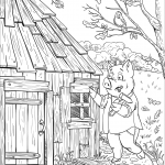 Patty Pig Builds a Wood House
