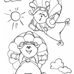 Dog and Bear Enjoy Their Parachute...