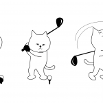 Cat Golfer