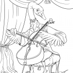 The Swan Playing Cello