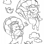 Cat Girl and Bear Boy are Flying in...