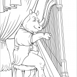 Rhinoceros Playing Harp