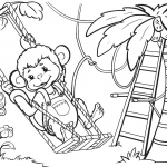 Monkey is Swinging from the Tree
