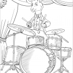 Kangaroo Playing Drums