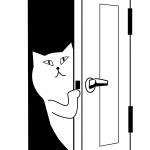 Cat Opens the Door