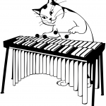 Cat Plays Marimba