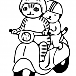 Cats on a Motorcycle