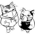 Gangsters Cats Wearing Masks