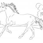 Biegnący koń arabski