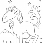 Cartoon Mustang Horse