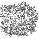 Sri Lanka Doodle