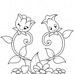 Two Cute Flower Chararters