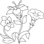 Three Funny Flower Characters