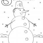 Letter S is for Snowman