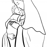 Mother Mary Holding Child Jesus