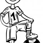 Chłopczyk piłkarz