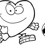 Zdrowe czerwone serce z piłką
