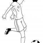 Cartoon Soccer Player Kicking Ball