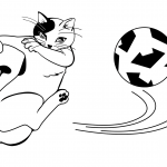 Cat Football Player